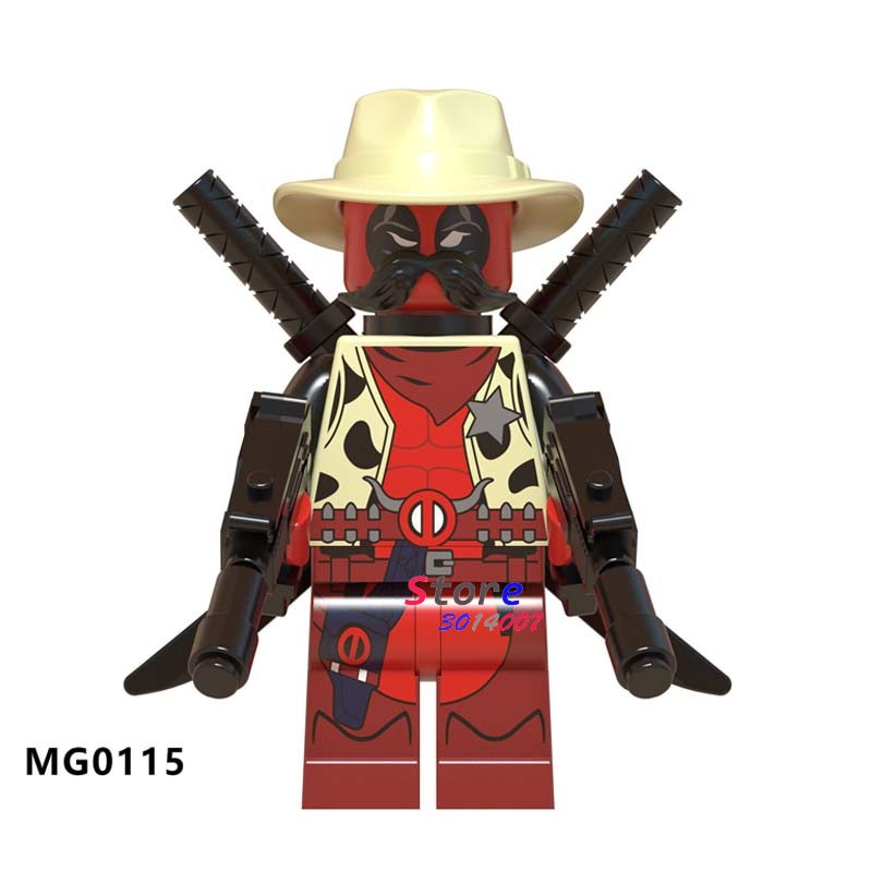 50pcs Building Blocks Deadpool 2 Action Sheriff Deadpool Knightmare Batman Robin Question for kids children toys