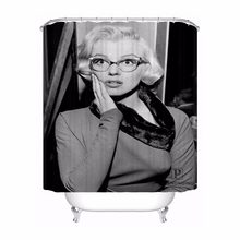 Custom Unique Marilyn Monroe Waterproof Shower Curtain Home Bath Bathroom s Hooks Polyester Fabric Multi Sizes#0421-sohu-32(China)