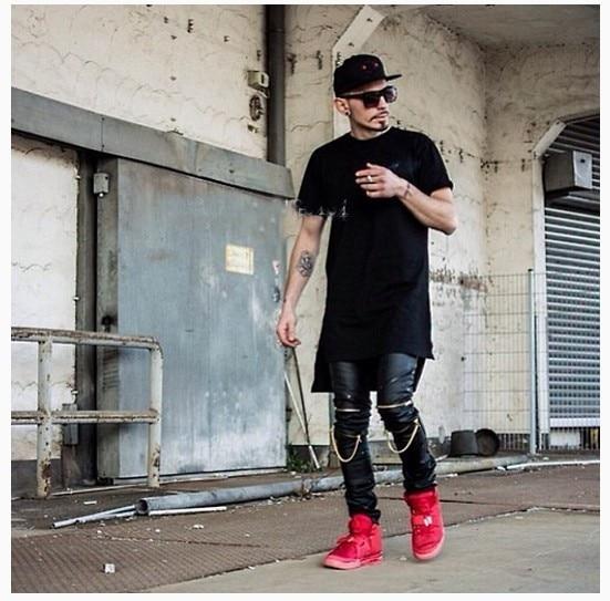 High Quantity PU Faux Leather Men Skinny Justin Bieber Clothes Slim Fit Hip Hop Hiphop Pants Zipper Swag Biker Jogger Kanye West 10
