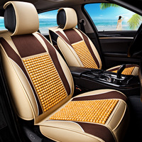 Summer Car Cushion Wooden Bead Seat Cover Full Package General Purpose Cold Pad Natural Color Brown Environmental and Comfort