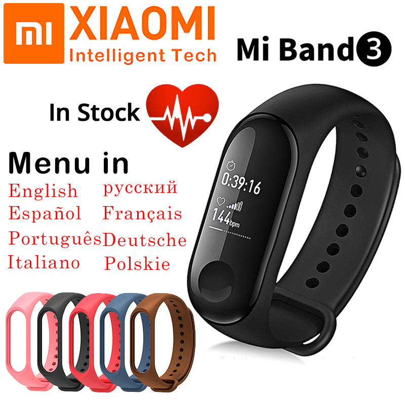 Fitness Tracker Xiaomi Mi Band 3 Smart Band Sport Bracelet Heart Rate Inteligente Smart Wristband OLED