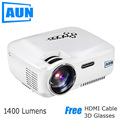 AUN Projector AM01C 1400 Lumens LED Projector Support 1920x1080 with ATV Port 3D MINI Beamer for Home Cinema Free HDMI Cable