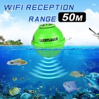 LUCKY Portable Waterproof Fish Finder 50M Wireless WIFI Range Sea Fish Detection Sonar Ocean Fishing Transducer