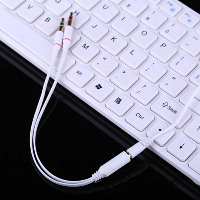 3.5 مللي متر الصوت Mic Y الفاصل كابل منظم سماعة إلى 2 ذكر ضياع الخائن للهاتف الكمبيوتر والذكاء Hometic