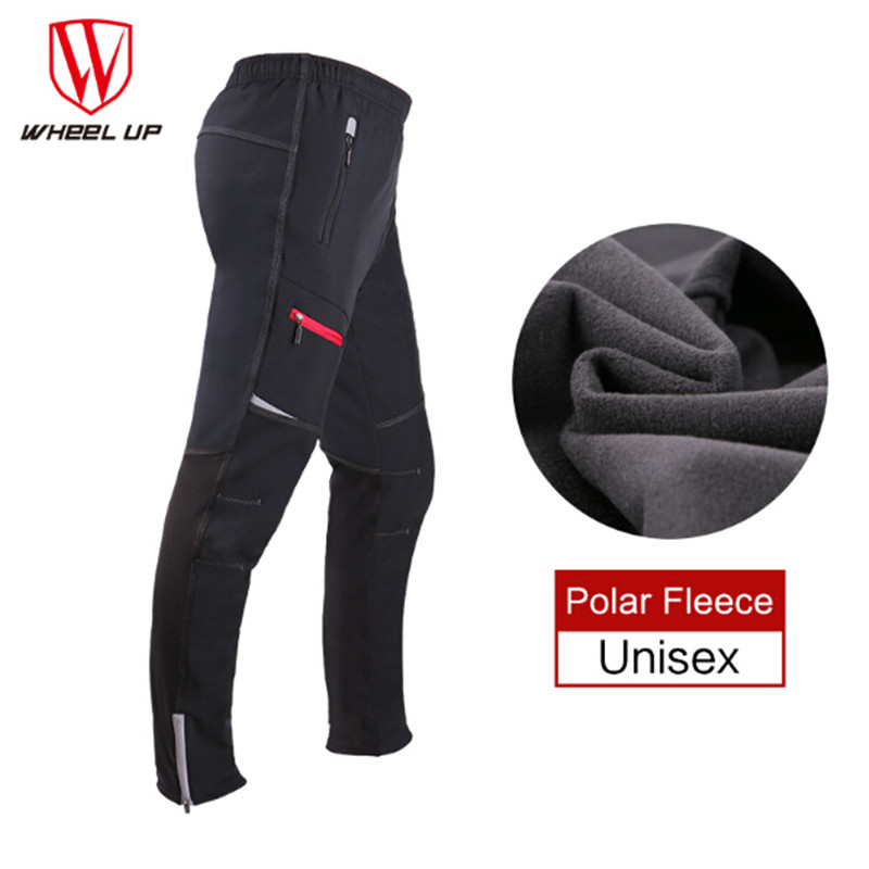 WHEEL UP 2017 New Men Thermal Fleece Winter Windproof Cycling Pants MTB Bike Bicycle Sports Outdoor
