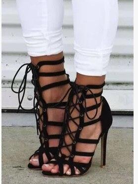 Picture Picture Talons Toe Suede Plus Peep Cut Femmes Robe Sandales La Chaussures Dentelle out Lacets Gladiateur As Creux as up À Vert Taille D'été Z1rwOqg1