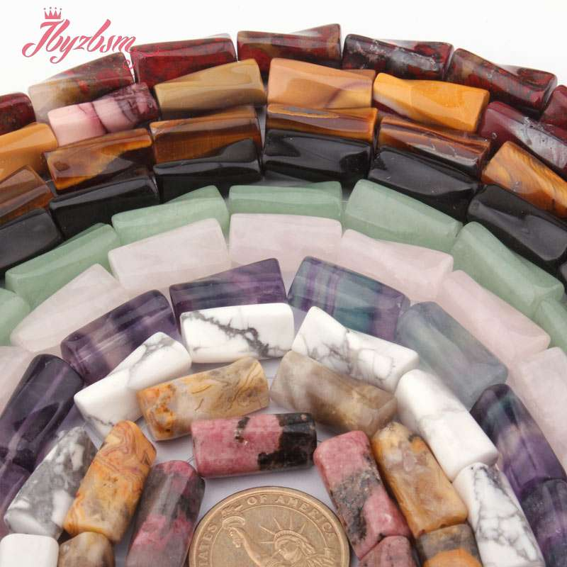 """8x20mm Column Twist Quartz,Fluorit,Flourite,Agates Beads Natural Stone Beads For DIY Necklace Jewelry Making 15"""",Free Shipping"""