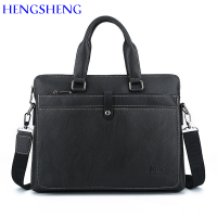 HENGSHENG Quality PU leather laptop briefcase for fashion men`s briefcase men handbag and leather shoulder bags for hot sale