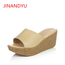 Womens High Heel Mules Slippers Thick Platform Women 2019 European and American Transparent Casual Slipper