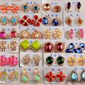 Mezcla al por mayor 20 Par/lote Diseñado Moda Mujer Stud Pendientes Pendientes de Cristal Rhiestone Liquidación Joyería para Las Mujeres