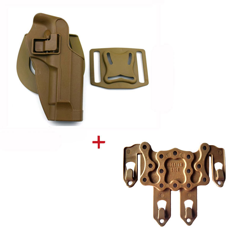 Image 4 - Tactical Belt Holster Beretta M9 92 96 Pistol Holster Military Airsoft Shooting Gun Holster For M9 Holster Hunting Accessories-in Holsters from Sports & Entertainment
