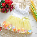 2016 Newborn Baby Dresses Summer Cotton Baby Aestheticism Fairy Tale Petals Colorful Dress Chiffon Princess