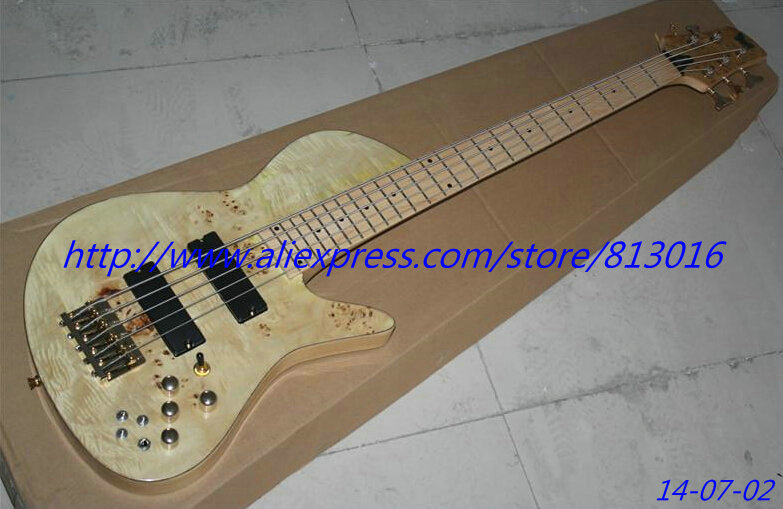 High Quality Factory Customized Electric Bass with natural Color Body and 2 Pickups and Can be Changed  ! high tech and fashion electric product shell plastic mold