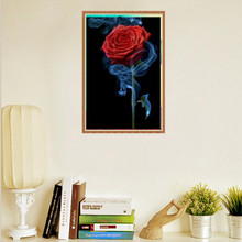 5D DIY Diamond Painting  Red Rose Embroidery Rhinestone Cross Stitch Painted Home Decor