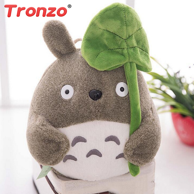 Tronzo 20cm Cute Totoro Plush Toys Hayao Miyazaki My Neighbor Totoro Stuffed Animal Dolls Decoration Toy For Baby Wholesale studio ghibli my neighbor totoro toy diy hayao miyazaki four season totoro mini resin action figures toys collection model toy