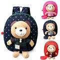 RU & BR Versão Coreana Do Bonito Dos Desenhos Animados Urso Crianças Mochila Moda Sacos de Escola Estampas de Animais das Crianças Pequenas Saco Do Bebê boneca