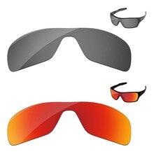 a34f7622d4d41 Cromo negro y rojo fuego 2 piezas polarizadas lentes para Rotor de turbina  de gafas de sol de Marco 100% UVA y UVB protección