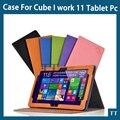 2015 Mais Novo caso para Cube iwork11 impressão Moda PU Suporte Capa de Couro Para Cube iwork 11 caso + free 3 presentes