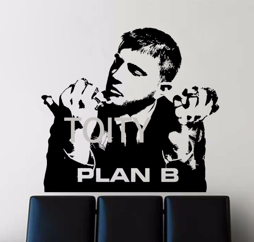 Plan B Wall Sticker Ben Drew English Hip Hop Singer Decal Rapper Music Vinyl Mural Benjamin Paul Ballance Drew Poster Decor