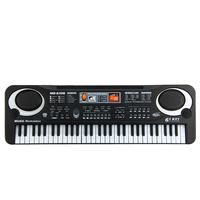 Enjoybay 61 Keys Digital Electronic Keyboard Toy Electric Piano Organ With Microphone Educational Instrument Toy for Children