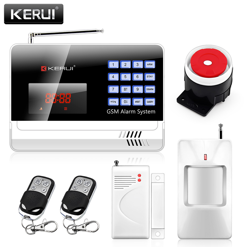 Wireless 120 Defense Zones Home Security Burglar Alarm System Auto Dialing Dialer GSM Alarm English/Russian/Spanish Voice