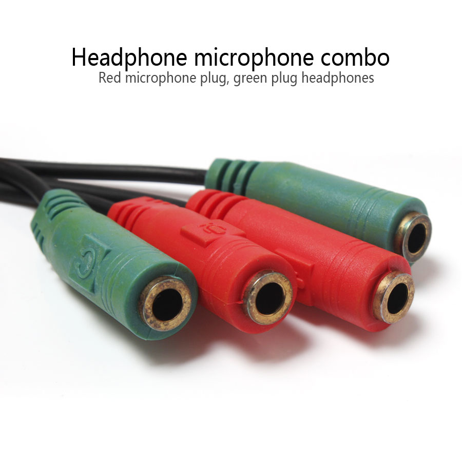 High Quality 3.5mm One In Two Headphones Computer Convert Audio Extension Cord Cable Jack Plug Earphone Accessories
