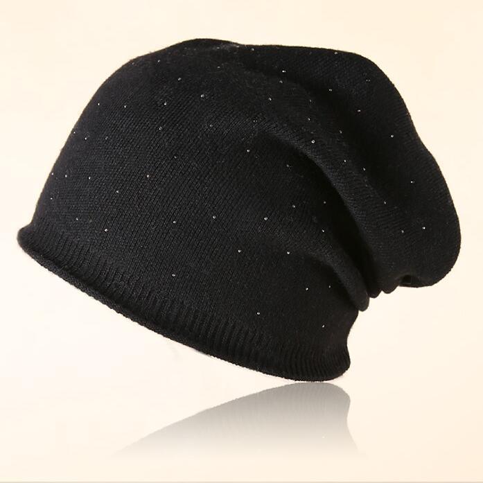 MingJieBiHuo Women's winter hat knitted wool beanies female fashion skullies casual outdoor ski caps thick warm hats for women