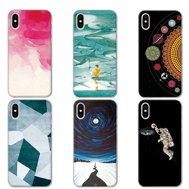 Cover For IPhone X Case 58 Inch Universe Planets Design Coque Capa For IPhone X Soft TPU Couple