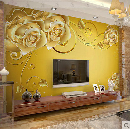 Self Adhesive Wall Mural Living Room Wallpaper 3D TV