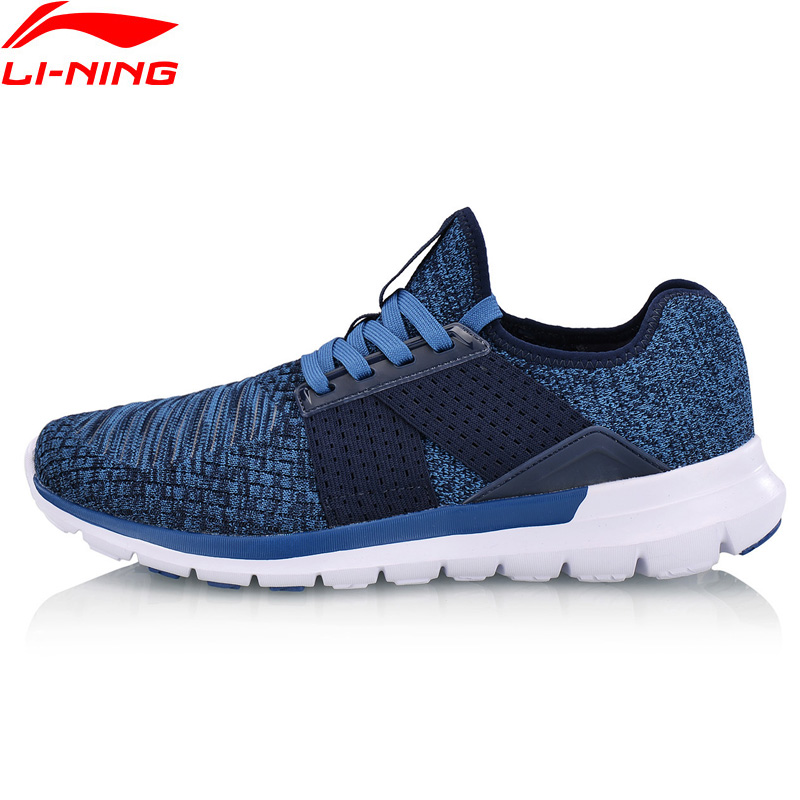 Li-Ning Men's FLEX RUN V2 Running Shoes Flexible Light LiNing Mono Yarn Sport Shoes Cushion Wearable Sneakers ARKN005 XYP660