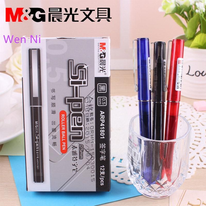 Free shipping M&G liquid gel pen, 0.5mm needle straight fluid-pen  ARP41801 Directly installed ink pen
