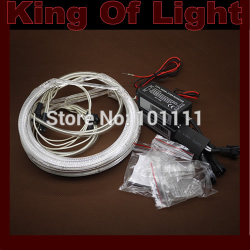 2x146MM+2x131MM Car CCFL LED Angel Eyes halo ring for BM E46 NON projector free shipping