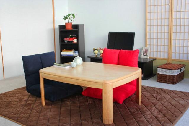 Japanese Style Kotatsu Foot Warmer Heated Table Rectangle 105cm Home  Furniture Modern Wood Living Room Floor