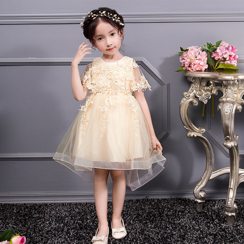 Shawl Wedding Flower Girls Ball Gown Baby Costume First Communion Dress Ball Gown Kids Pageant Clothes Children's Tutu Clothing