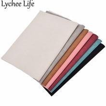 Lychee Life A4 искусственная замша кожа ткань красочные 21x29 см Ткань современная домашняя одежда текстиль принадлежности для шитья товары
