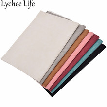 Lychee Life A4 Faux Suede Leather Fabric Colorful 21x29cm Modern Home Garment Textile Sewing Accessories Supplies