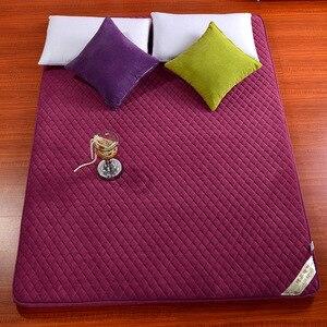 Image 4 - ثلاثي الأبعاد سماكة المرجان المخملية فراش مزدوج الوجهين أربعة مواسم سرير قابل للطي ، فراش ، السرير المنتج