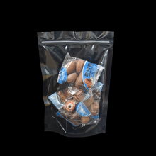 15*22cm Transparent Food Storage Zip Lock Plastic Bags 100pcs/lot Stand Up Ziplock Heat Sealable Pack Pouch for Nut Candy Snacks