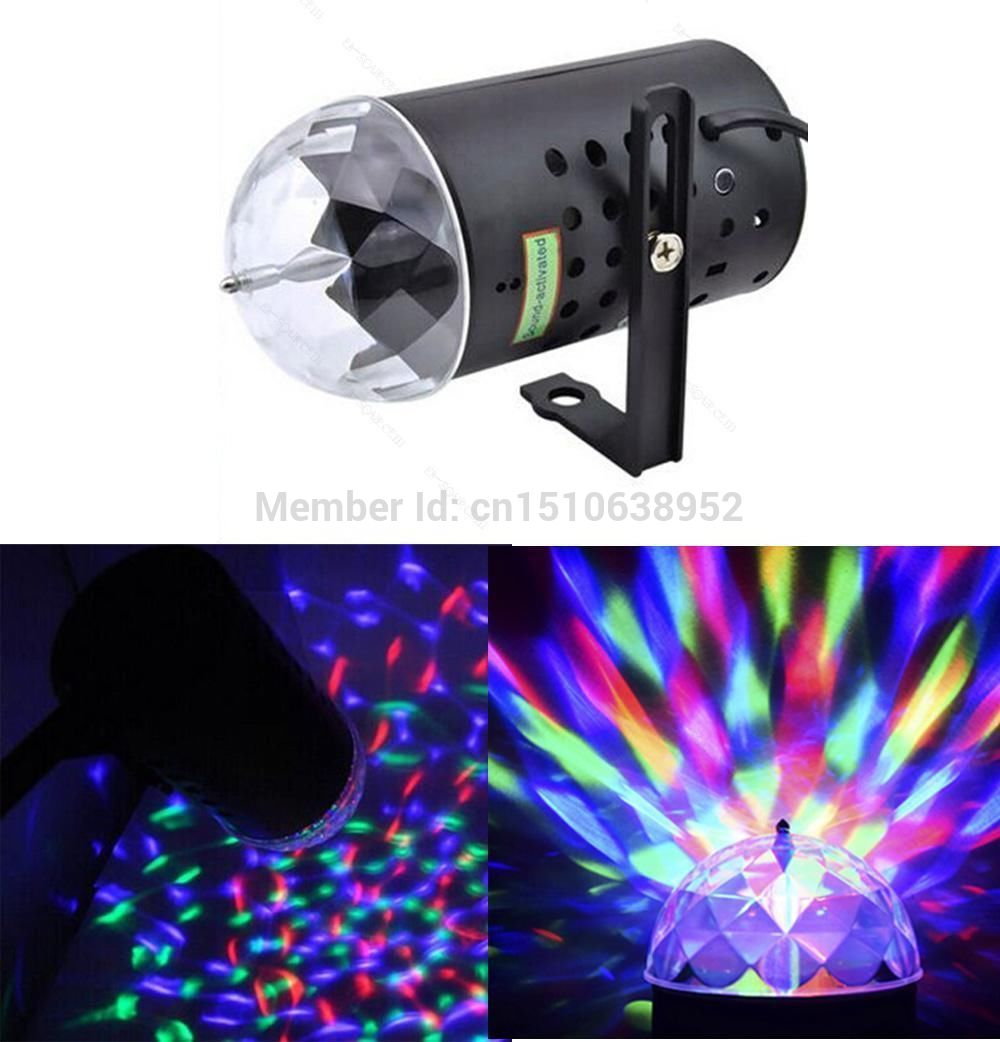 3W Crystal Magic Ball Laser Stage Light For Party Disco Bar Lighting Bulb Show mini rgb led party disco club dj light crystal magic ball effect stage lighting