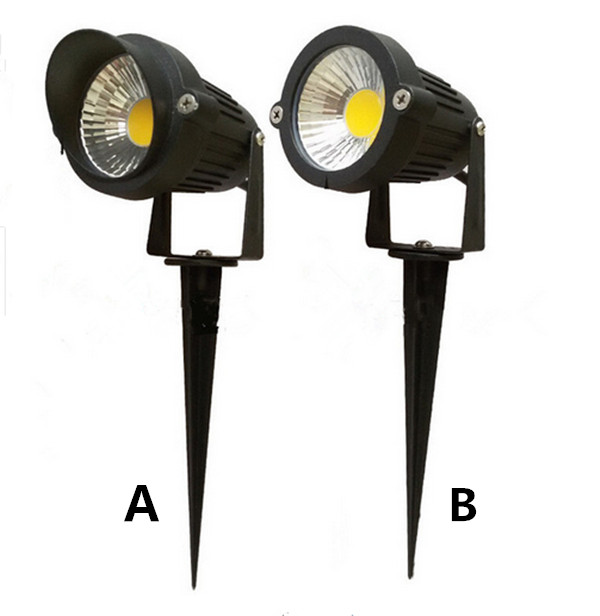 Outdoor Garden LED Light 220V110V 5W COB LED Lawn Lamps Light IP65 Waterproof Pond Path Flood spotlight landscape lighting