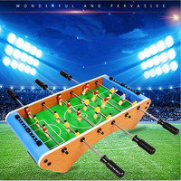 Wooden Table Top Football Game Toys for Adult Mini Air Hockey Durable Game Indoor Outdoor Table Top Game Set for Teens Adults