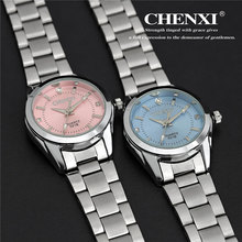 CHENXI Luxury Women's Casual watches Analog wrist watch women fashion Dress Rhinestone watch Pink colors relogio