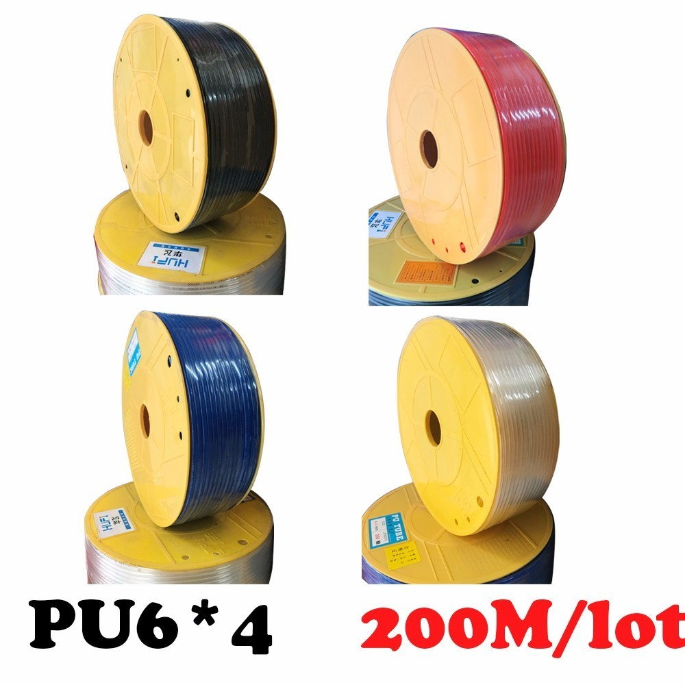 PU6*4 200m/roll PU tube 6*4mm Air pipe, air hose, air duct fittings air pipe to air compressor pneumatic component red 100pcs pu6 pu 6 white color tube fittings pneumatic quick plug connection through pneumatic joint air pneumatic 6mm to 6mm pu 6
