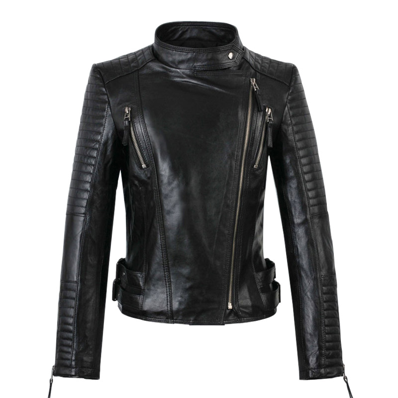Womens Biker Jacket - Coat Nj