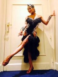 Профессиональное на заказ белое платье с кисточками для латинских танцев платье для латинских танцев для девушек или девушек