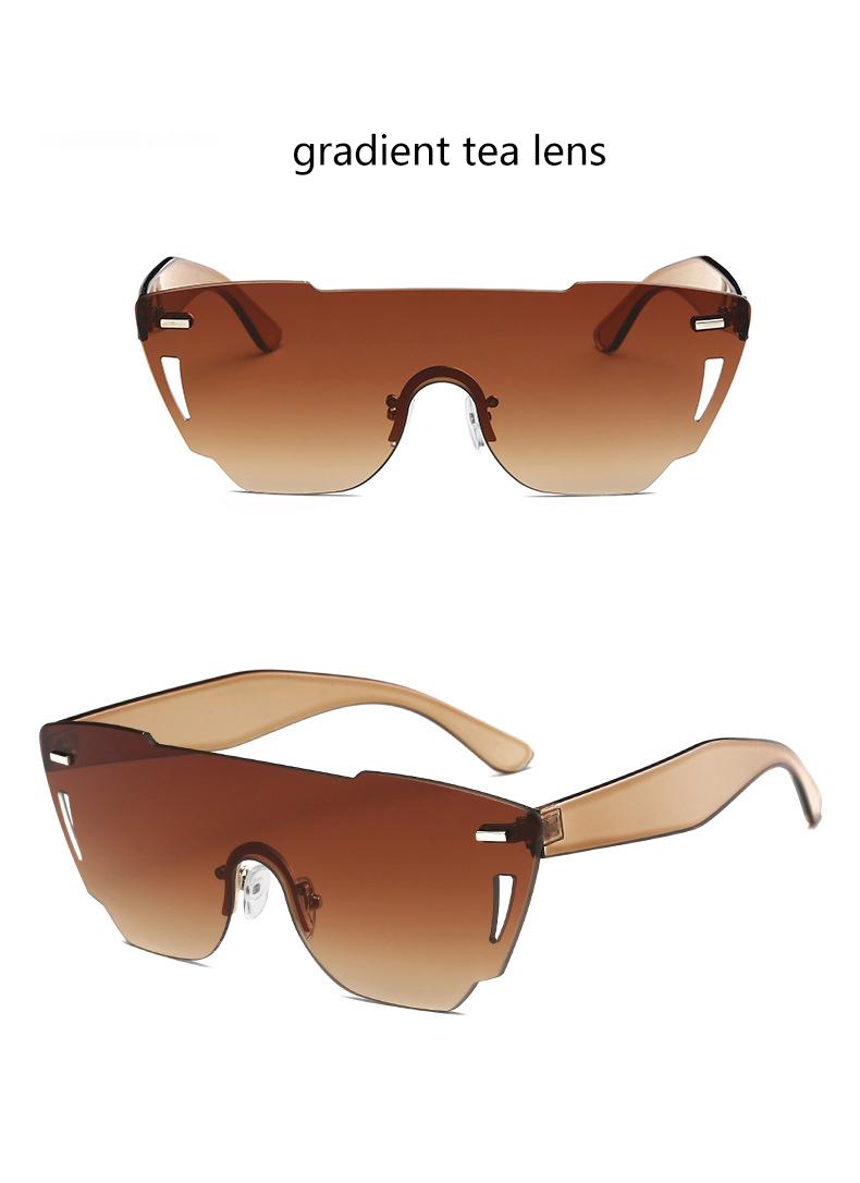 HTB1z4BzRXXXXXcSXVXXq6xXFXXXA - Candy Color Sunglasses Flat Top Rimless Sunglasses