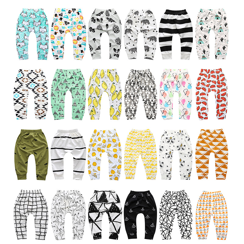 3 Pcs /Lot Leggings Atutmn Cartoon Baby Leggings Children Trousers Baby Harem Pants Baby Boy Trousers Baby Clothes Newborn