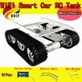 Oficial DOIT RC Tanque De Metal Chassi Do Trator Sobre Esteiras Caterpillar Obstacle Avoidance Intelligent Car Robot DIY Brinquedo do RC Remoto