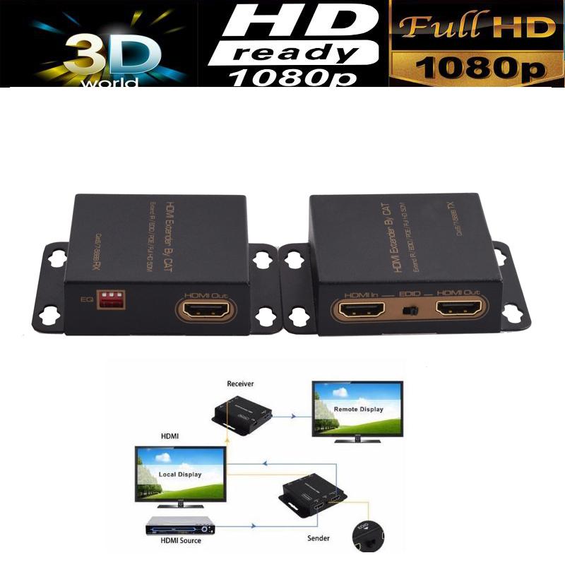 Prix pour HDMI extender avec Boucle et IR répéteur câble over Ethernet Cat5e/6 jusqu'à 60 M POE