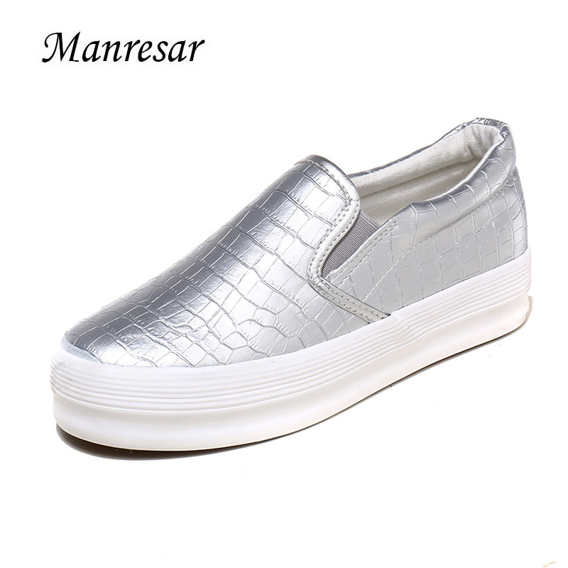 Manresar 2017 New Women Flat Shoes Woman Moccasin Zapatos Mujer Platform Shoes Slip On For Ladies Shoes Casual Flats Moccasins купить